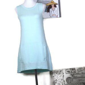 Athleta Turquoise Cut Out Back Dress Size XS